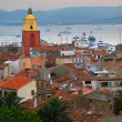 St.Tropez at sunset - Stock Photo