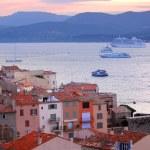 St.Tropez at sunset — Stock Photo