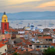St.Tropez at sunset — Foto Stock