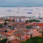 St.Tropez harbor at sunset — Stock Photo