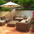 Patio of a villa — Stock Photo #4641900