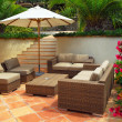 Stock Photo: Patio of villa