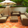 Patio of a villa — Stock Photo #4641904