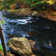 Fall river landscape — Stock Photo