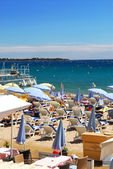 Beach in Cannes, France — Stock Photo