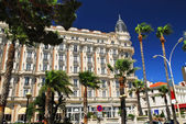 Croisette promenade in Cannes — Stock Photo