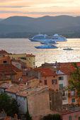Cruise ships at St.Tropez — Stock Photo