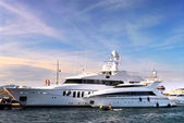Luxury yachts — Stock fotografie