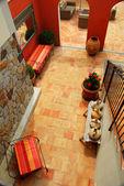 Courtyard of a villa — Stock Photo