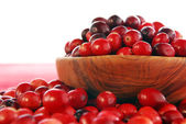 Cranberries in a bowl — Stock fotografie
