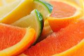 Citrus wedges — Stock Photo
