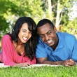 Happy couple in park — Stockfoto #4718475