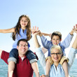 Happy family fun — Stock Photo