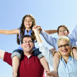 Stock Photo: Happy family fun