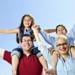 Happy family fun — Stock Photo