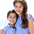 Brother and sister hugging — Stock Photo #4718612