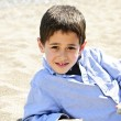 Young boy at beach — Stock Photo