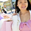 Asian woman shopping — Stock Photo
