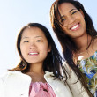 Young girl friends — Stock Photo