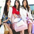 Young girlfriends shopping — Stock Photo #4718668