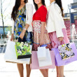 Group of young girlfriends shopping — Stock Photo #4718672