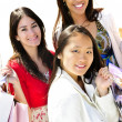 Young girlfriends shopping — Stock Photo #4718682