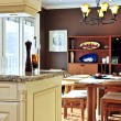 Modern kitchen and dining room interior — Stock Photo