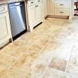 Tile floor in modern kitchen — Stock Photo
