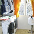 Stock Photo: Laundry room