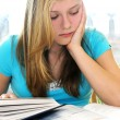 Teenage girl studying with textbooks — Stock Photo #4718809