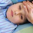 Sick child - Stock Photo