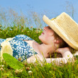 Young girl resting in meadow — Stock Photo #4718865