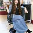 Stock Photo: Hair stylist in salon