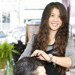 Stock Photo: Hairstylist working
