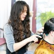 Hairstylist working - Stock Photo