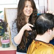 Hairstylist working — Stock Photo