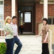 Happy couple with real estate agent — Stock Photo #4719058