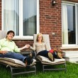 Happy couple relaxing at home — Stock Photo #4719107