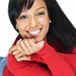 Portrait of young black woman smiling — Stock Photo #4719204