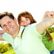 Father and daughter piggyback — Stock Photo