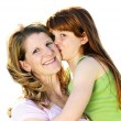 Mother and daughter hugging — Stock Photo #4719281