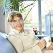 Elderly woman relaxing — Stock Photo #4719395