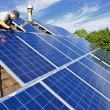 Solar panel installation - Foto de Stock
