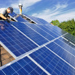 Solar panel installation - Stockfoto