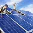 Foto Stock: Solar panel installation