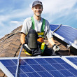 Solar-Panel installation — Stockfoto