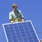 Solar panel installation — Stock Photo