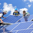 Solar panel installation — Stockfoto #4719452