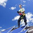Solar panel installation — Foto de Stock