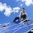 Solar panel installation - Foto Stock